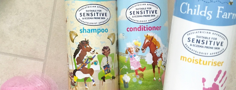 Childs farm shampoo, conditioner and moisturiser for babies and toddlers sensitive skin