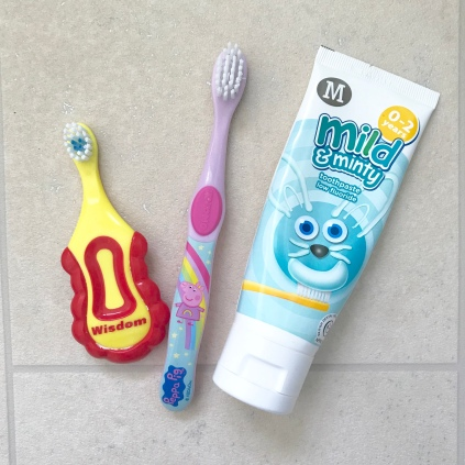 baby and toddler toothbrushes and toothpaste